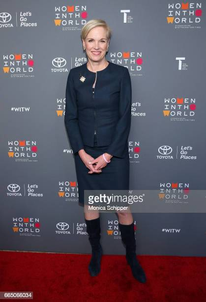 President of the Planned Parenthood Federation of America Cecile Richards attends the 8th Annual Women In The World Summit at Lincoln Center for the...
