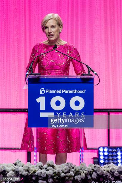 President of the Planned Parenthood Federation of America, Cecile Richards speaks during the Planned Parenthood 100th Anniversary Gala at Pier 36 on...