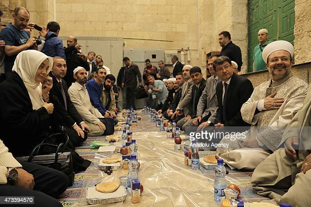 President of the Presidency of Religious Affairs of Turkey Mehmet Gormez attends a iftar dinner hosted by Turkish Cooperation and Coordination Agency...