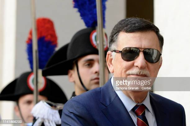 President of the Presidential Council of the Libyan National Agreement Government, Fayez al Sarraj during the meeting at Palazzo Chigi with Premier...