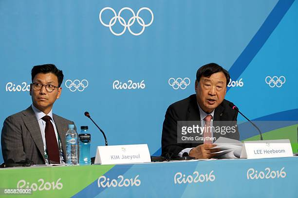 President of the PyeongChang Organizing Committee for the 2018 Olympic and Paralympic Winter Games Lee HeeBeom and Kim Jaeyoul Vice President of...