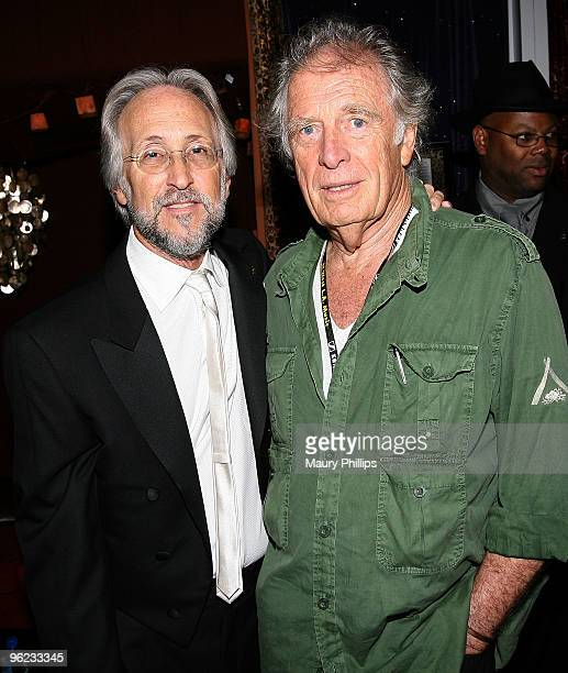President of The Recording Academy Neil Portnow and Chris Blackwell attend the Catch a Fire PE Wing Event at The Villiage Studios on January 27 2010...