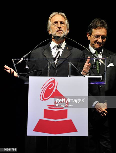 President of the Recording Academy Neil Portnow speaks at The 9th Annual Latin GRAMMY Awards Person Of The Year Honoring Gloria Estefan held at the...