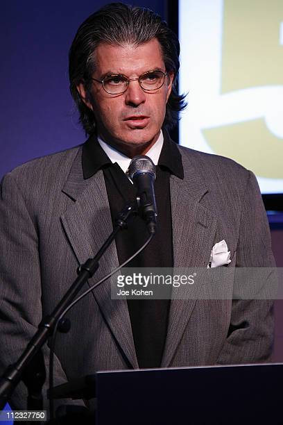 President of the Recording Academy New York Chapter Steve Sterling speaks at the New York Chapter of the National Academy of Recording Arts and...