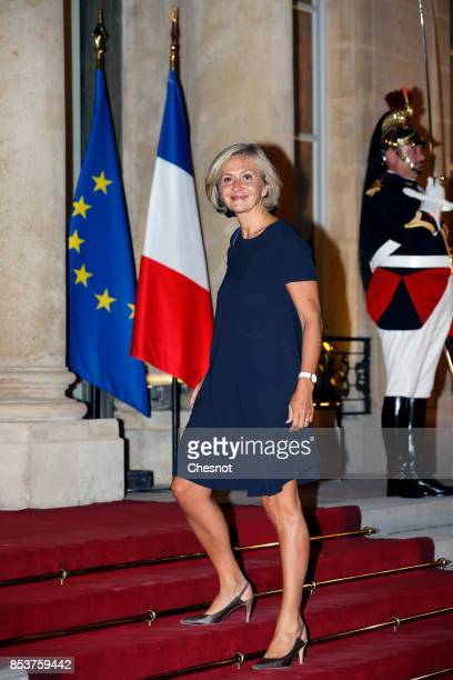President of the regional council of Paris Valerie Pecresse arrives for a state dinner with Lebanese President Michel Aoun and French President...
