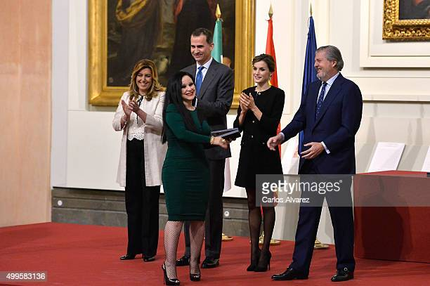 President of the regional government of Andalusia Susana Diaz singer Alaska King Felipe VI of Spain Queen Letizia of Spain and Culture minister Inigo...