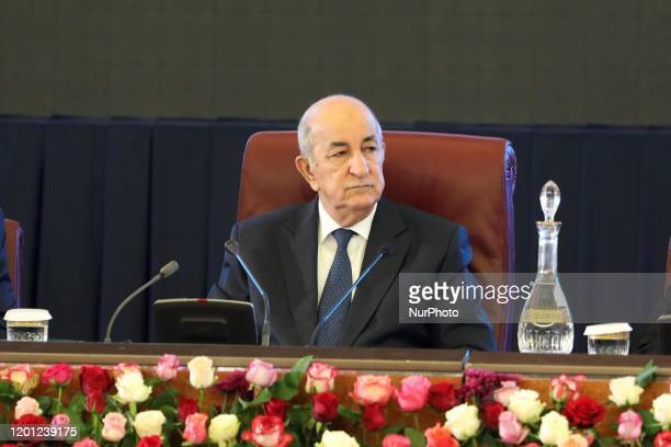 President of the Republic, Abdelmadjid Tebboune, during the government-walis meeting, For a new Algeria, Sunday February 16, 2020 in Algiers, Algeria