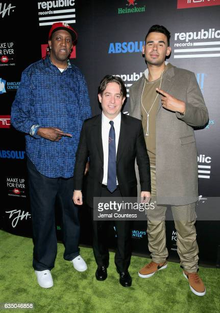 President of The Republic Group Charlie Walk and record producer Afrojack at a celebration of music with Republic Records in partnership with Absolut...
