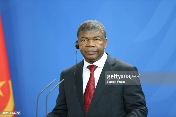 President of the Republic of Angola João Lourenço at the press conference in the Federal Chancellery