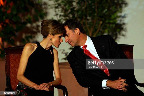 President of the Republic of Chile Sebastian Piñera and his wife Cecilia Morel offer an official dinner in honor of their Royal Highnesses the Prince...