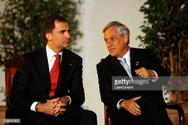 President of the Republic of Chile, Sebastian Piñera and his wife Cecilia Morel, offer an official dinner in honor of their Royal Highnesses the...