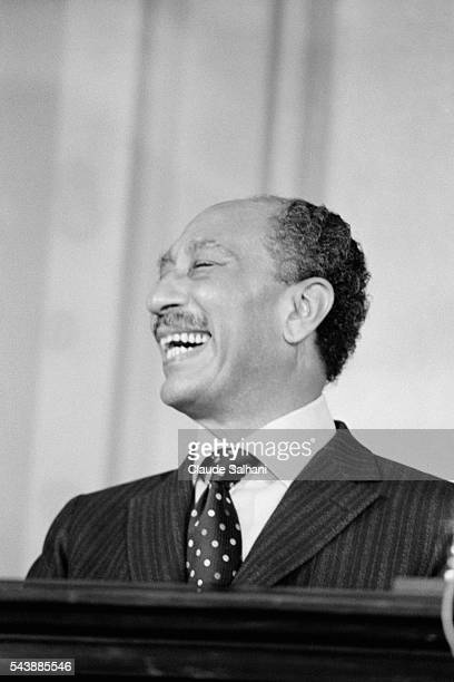 President of the Republic of Egypt Anwar Al Sadat delivers an important speach to the Egyptian people about the conflict in the Middle East