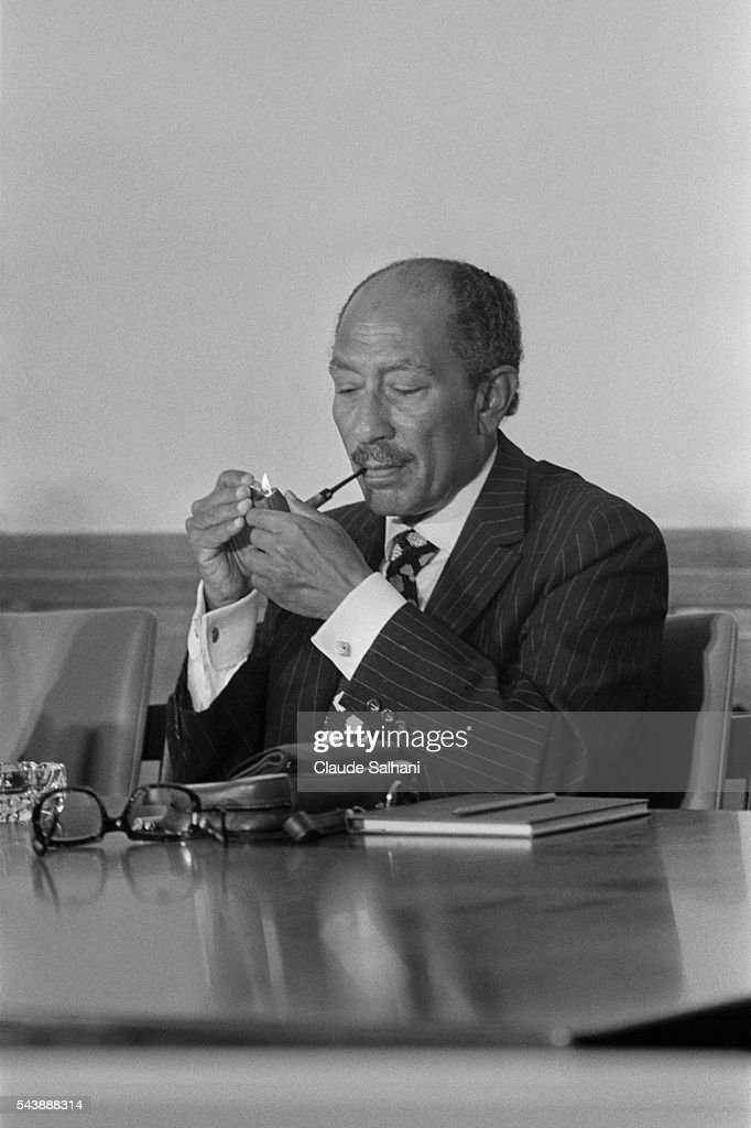President of the Republic of Egypt Anwar Al Sadat : Nachrichtenfoto