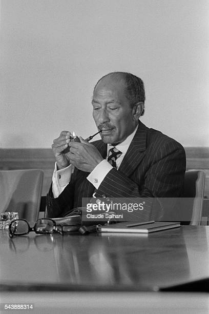 President of the Republic of Egypt Anwar Al Sadat