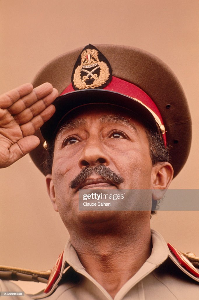 President of the Republic of Egypt Anwar Al Sadat : News Photo
