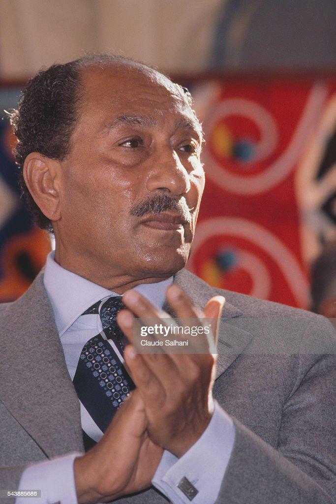 President of the Republic of Egypt Anwar Sadat : News Photo