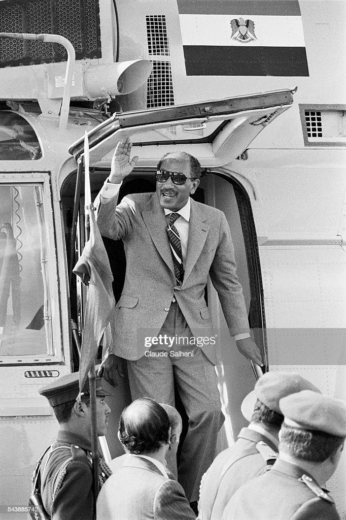 President of the Republic of Egypt Anwar Al Sadat : News Photo