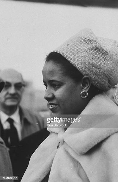 President of the Republic of Guinea Sekou Toure's wife during a visit to the US