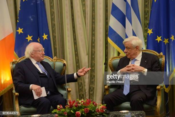 MANSION ATHENS ATTIKI GREECE President of the Republic of Ireland Michael Daniel Higgins and President of Hellenic Republic Prokopis Pavlopoulos