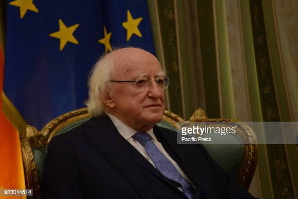 MANSION ATHENS ATTIKI GREECE President of the Republic of Ireland Michael Daniel Higgins during the meeting with President of Hellenic Republic...