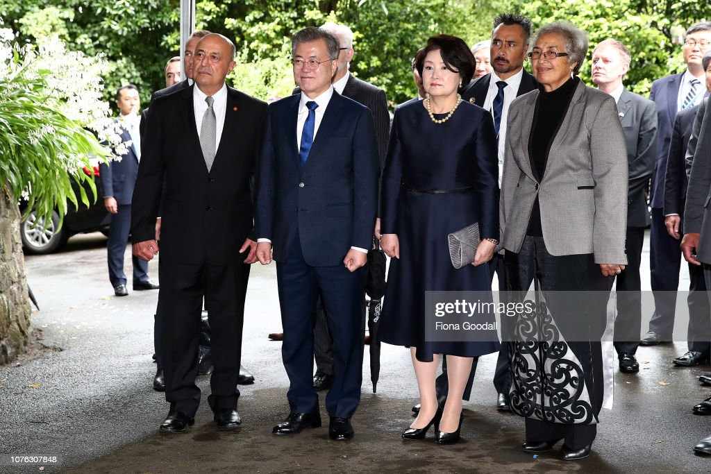South Korean President Moon Jae-in Visits New Zealand : News Photo