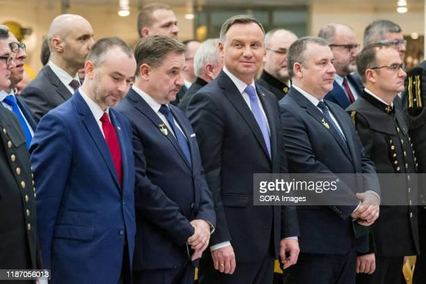 President of the Republic of Poland; Andzej Duda, Leader of the Polish Trade Union NSZZ Solidarnosc; Piotr Duda, President of the Management Board of...