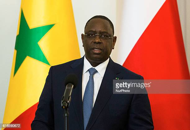 President of the Republic of Senegal Macky Sall on 27 October in Warsaw Poland