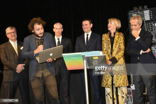 President of the Ricard Foundation Philippe Savinel artist Neil Beloufa Franck Rister French Culture ministerAlexandre Ricard chairman and CEO of...