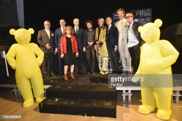 President of the Ricard Foundation Philippe Savinel artist Neil Beloufa Franck Rister French Culture minister Alexandre Ricard chairman and CEO of...