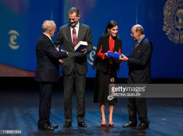 President of the Royal Spanish Academy and the Associaton of Academies of the Spanish Language Santiago Munoz Machado and Spanish philologist and...