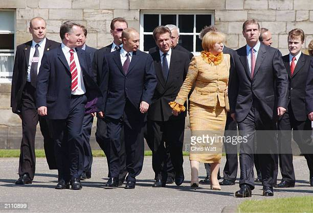 President of the Russian Federation His Excellency Mr Vladimir Putin Mr Jack McConnell First Minister of Scotland and Mrs Lyudmila Putina accompanied...