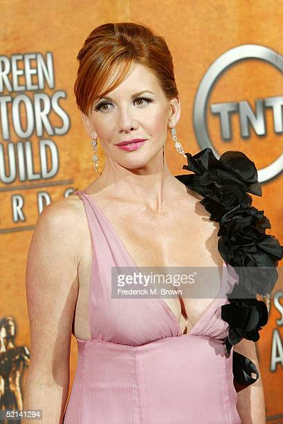 President of the Screen Actors Guild Mellissa Gilbert poses in the press room at the 11th Annual Screen Actors Guild Awards at the Shrine Exposition...