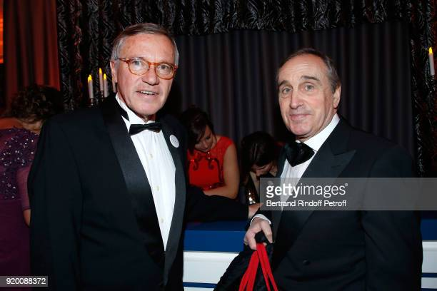 President of the Snow Night La Nuit des Neiges Francois Barras and CEO at Christie's Europe and Asia Francois Curiel attend the Snow Night La Nuit...