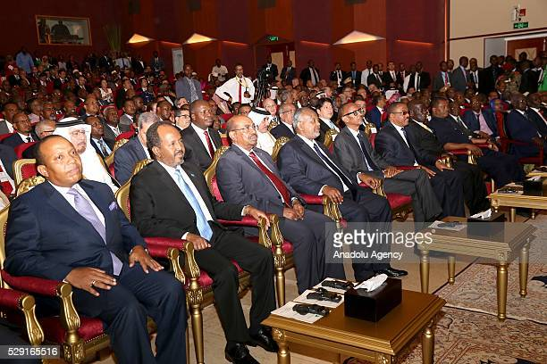 President of the Somalia Hasan sheikh Mahmud Sudanese President Omar alBashir Rwanda's President Paul Kagame and Ethiopian Prime Minister Hailemariam...