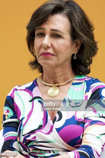 President of the Spanish bank Banco Santander Ana Patricia Botin attends an event organized by 'Mujeres por Africa' Foundation on July 3 2018 in...