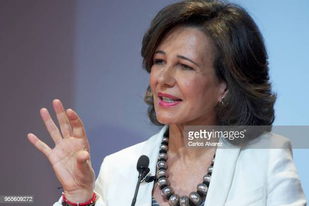 President of the Spanish bank Banco Santander Ana Patricia Botin attend 10th 'Proyectos Sociales Banco de Santander' awards at Las Alhajas Palace on...
