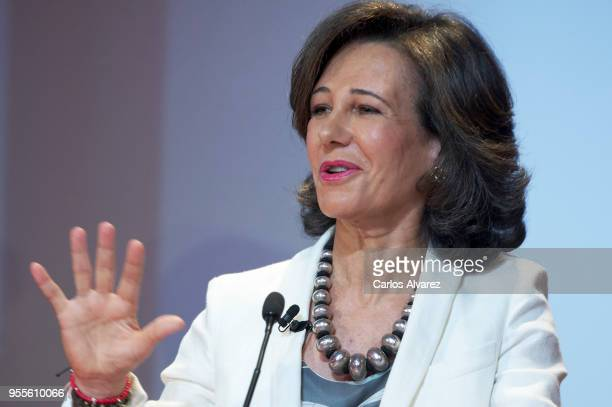 President of the Spanish bank Banco Santander Ana Patricia Botin attend 10th 'Proyectos Sociales Banco de Santander' awards at Las Alhajas Palace on...
