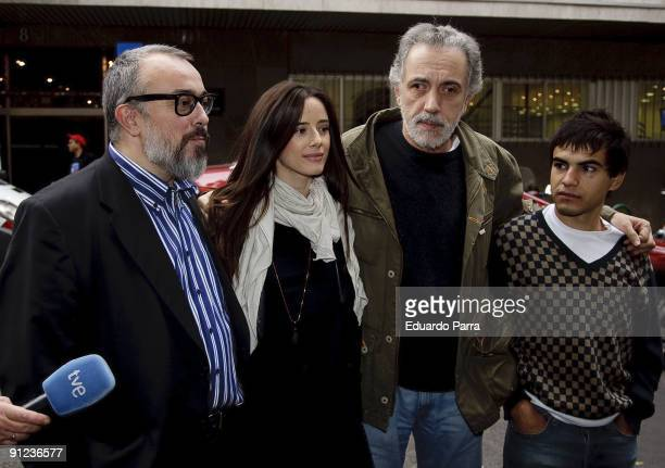 President of the Spanish Cinema Academy Alex de la iglesia actress Pilar Lopez de Ayala director Fernando Trueba and actor Abel Ayala attend the...