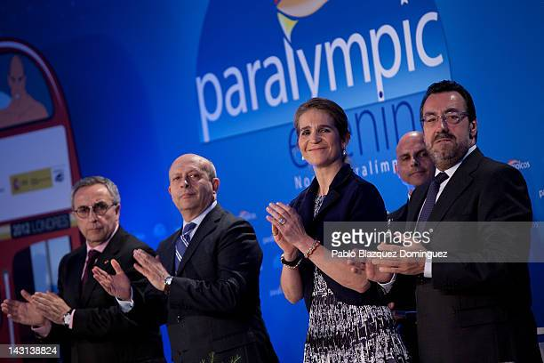 President of the Spanish Olympic Committee Alejandro Blanco Bravo Spain's Minister of Education Culture and Sport Jose Ignacio Wert Ortega Princess...