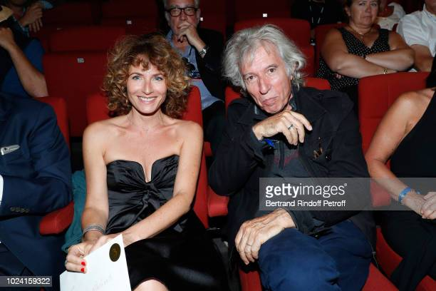 President of the Student Jury actress Elsa Lunghini and Director Jacques Doillon attend the Closing Ceremony of the 11th Angouleme FrenchSpeaking...