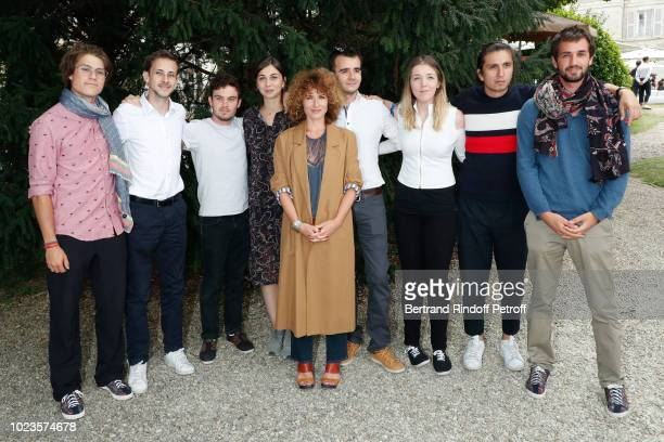 President of the Student Jury actress Elsa Lunghini and Students attend the 11th Angouleme FrenchSpeaking Film Festival Day Five on August 25 2018 in...