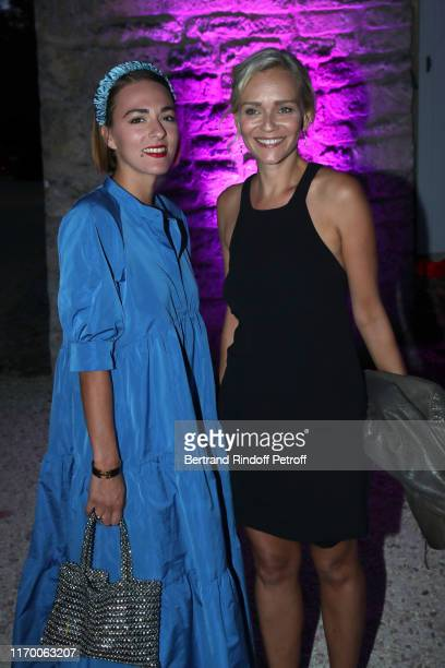 President of the Student Jury Claire Borotra and a guest attend the 12th Angouleme FrenchSpeaking Film Festival Day Five Dinner at the Domaine de...