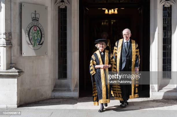 President of the Supreme Court Baroness Hale of Richmond leaves the court building ahead of the annual service marking the beginning of the new legal...
