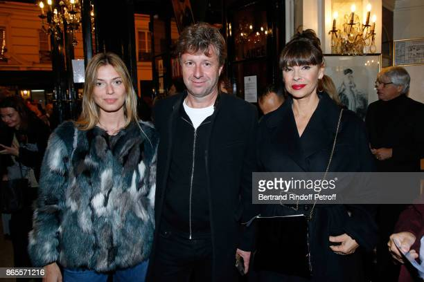 President of the Theatre de Paris Richard Caillat and Mathilda May attend the Ramses II Theater Play at Theatre des Bouffes Parisiens on October 23...