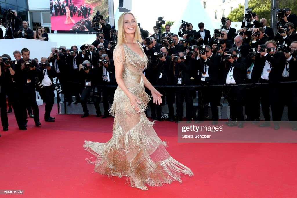 President of the Un Certain Regard jury Uma Thurman attends the Closing Ceremony during the 70th annual Cannes Film Festival at Palais des Festivals on May 28, 2017 in Cannes, France.
