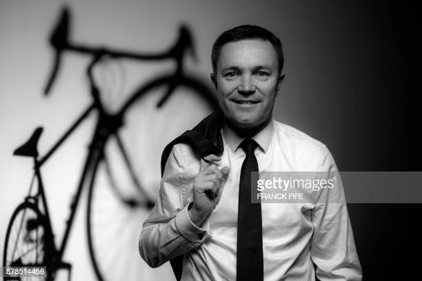 President of the Union Cycliste Internationale David Lappartient poses during a photo session on November 23 2017 in Paris VERSION