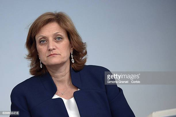 President of the Union of Italian Jewish Communities Dr Noemi Di Segni during the press conference at Palazzo Chigi for the presentation of the...