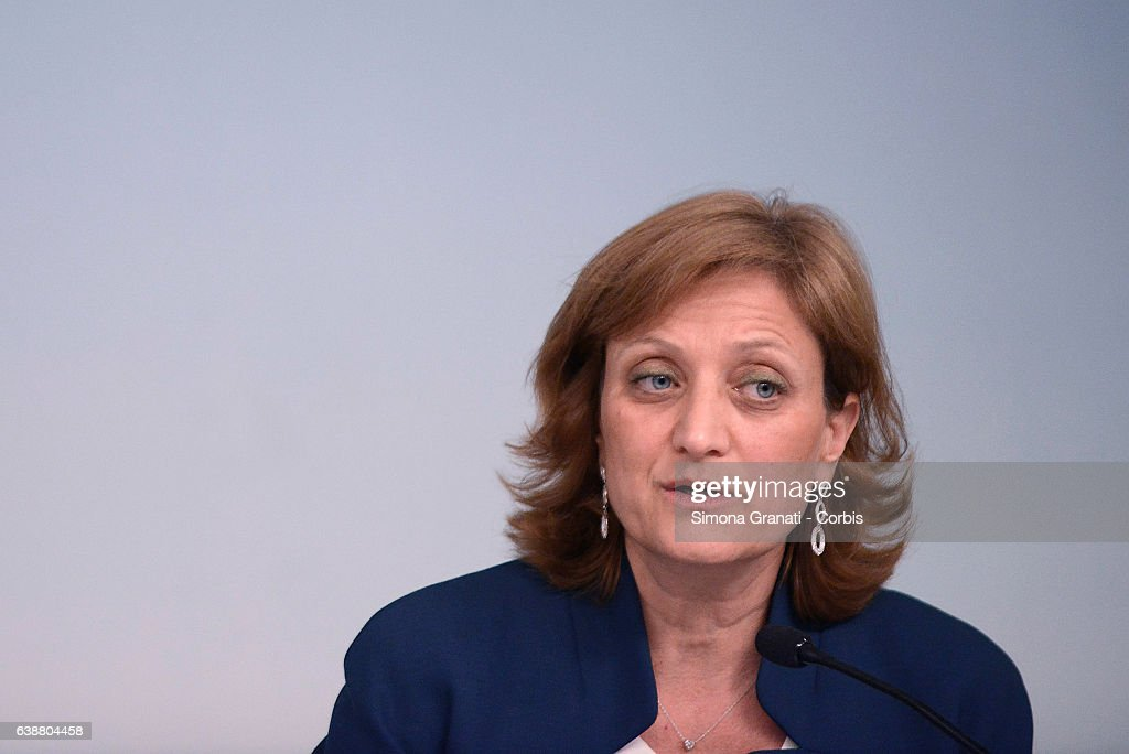 Holocaust Remembrance Day, Press Conference At Palazzo Chigi : Nieuwsfoto's