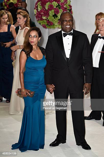 President of the United Nations General Assembly SEM John W Ashe and a guest attend the 66th Monaco Red Cross Ball Gala at Sporting MonteCarlo on...