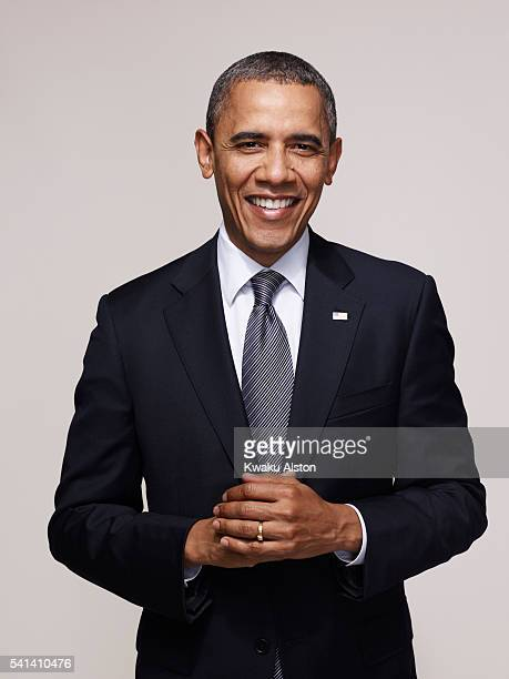 President of the United States Barack Obama is photographed for Essence Magazine on April 24 2012 in Washington DC